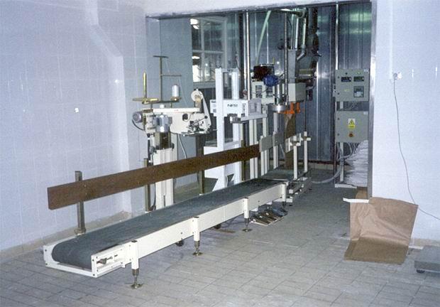 Linka pro plnění sušeného mléka do pytlů