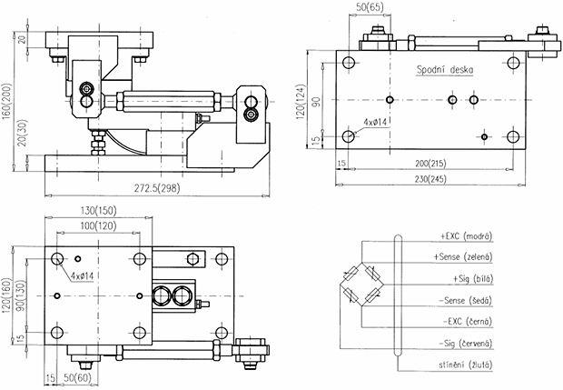 VB/HLC, VBT/HLC - rozměry a zapojení